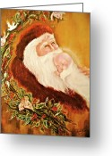 Christ Child Greeting Cards - Adoration Greeting Card by Addie Coppola