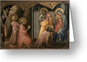 Saint Joseph Greeting Cards - Adoration Of The Kings Greeting Card by Granger