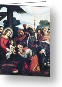 Saint Joseph Greeting Cards - Adoration Of The Magi Greeting Card by Granger