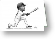 Third Base Greeting Cards - Adrian Beltre Greeting Card by Darrell Fitch
