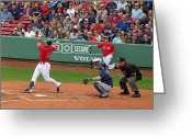 Home Run Greeting Cards - Adrian Gonzalez Greeting Card by Juergen Roth