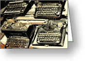 Typewriters Greeting Cards - Advanced Typing Greeting Card by Diane montana Jansson