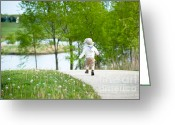 Kid Photo Greeting Cards - Adventure Greeting Card by Sebastian Musial