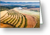 Evgeni Dinev Greeting Cards - Aerial landscape Greeting Card by Evgeni Dinev