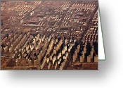 Aerial View Greeting Cards - Aerial View Of Beijing Suburb, Tongzhou Distr Greeting Card by Jialiang Gao
