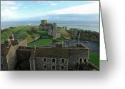 Building Greeting Cards - Aerial view of Dover Castle Greeting Card by Ashish Agarwal