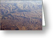 Desolate Landscapes Greeting Cards - Aerial View Of Earth Patterns Greeting Card by Rich Reid