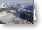 Marcus Greeting Cards - Aerial View Of Harvard Glacier Greeting Card by Rich Reid