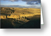 Native Architecture Greeting Cards - Aerial View Of Pueblo Bonito In Chaco Greeting Card by Ira Block