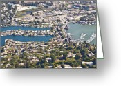 Outskirts Greeting Cards - Aerial View of San Francisco Suburb Greeting Card by Eddy Joaquim