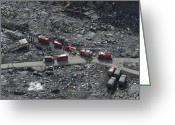 Humanitarian Aid Greeting Cards - Aerial View Of The Japanese Ground Greeting Card by Stocktrek Images