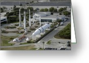 Redstone Greeting Cards - Aerial View Of The Kennedy Space Center Greeting Card by Stocktrek Images