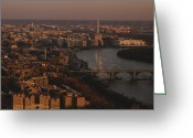 Skylines Photo Greeting Cards - Aerial View Of Washington, D.c Greeting Card by Kenneth Garrett