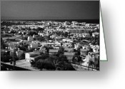Fig Tree Greeting Cards - Aerial View Over Houses And Apartments In Fig Tree Bay Protaras Looking Towards Famagusta Cyprus Greeting Card by Joe Fox