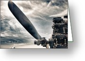 Featured Greeting Cards - Aero Machine Greeting Card by Nathan Larson