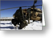 Snow Boarding Greeting Cards - Afghan National Army Air Corps Members Greeting Card by Stocktrek Images