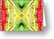 Tribal Drawings Greeting Cards - Africa Colours2 Greeting Card by Samar Asamoah