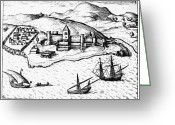 Trading Greeting Cards - Africa: Portuguese Fort Greeting Card by Granger
