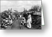 East Africa Greeting Cards - AFRICA: RAILWAY, c1905 Greeting Card by Granger