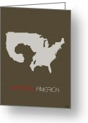 Citizen Greeting Cards - African America Poster Greeting Card by Irina  March