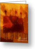 Sold Greeting Cards - African Impression Greeting Card by Lutz Baar
