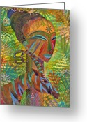 Exotic Greeting Cards - African Queens Greeting Card by Jennifer Baird