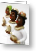 African Heritage Greeting Cards - African Wise Men Greeting Card by Gaspar Avila