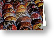 Wooden Bowls Greeting Cards - African wooden bowls Greeting Card by Werner Lehmann