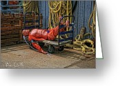 Fire Photo Greeting Cards - After a hard day at Sea Greeting Card by Bob Orsillo
