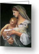 Christmas Pastels Greeting Cards - After Bouguereau Greeting Card by Joyce Geleynse