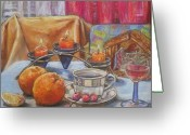 Prague Pastels Greeting Cards - After Christmas morning Greeting Card by Gordana Dokic Segedin