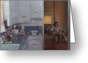 Appliances Greeting Cards - After Dinner Greeting Card by David Clemons