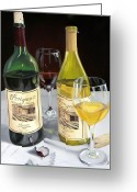 Wine Bottle Prints Greeting Cards - After Five Greeting Card by Brien Cole