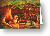 Storybook Greeting Cards - After Hours Greeting Card by Tia Harper