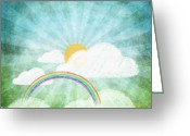 Tag Art Greeting Cards - After Rainy Greeting Card by Setsiri Silapasuwanchai