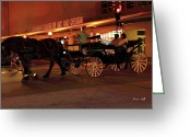 Horse Art Giclee Greeting Cards - After Sundown Greeting Card by Suzanne Gaff