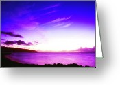 After Sunset Greeting Cards - After Sunset North Shore Greeting Card by Thomas R Fletcher