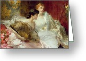 Evening Dress Greeting Cards - After the Ball Greeting Card by Conrad Kiesel
