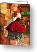 Redhead Greeting Cards - After The Ball Greeting Card by Igor Postash