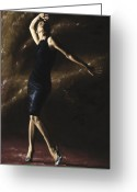 Bare Legs Greeting Cards - After the Dance Greeting Card by Richard Young