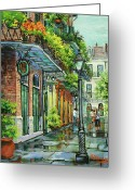 New York City Painting Greeting Cards - After the Rain Greeting Card by Dianne Parks