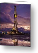 Driller Greeting Cards - After The Storm Greeting Card by Jonas Wingfield