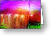 Storm Digital Art Greeting Cards - After the Storm Greeting Card by Linda Sannuti