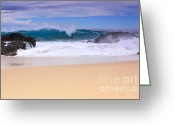 Waves Pyrography Greeting Cards - After The Storm Greeting Card by Robert  McKinstry