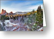 Garden Of The Gods Greeting Cards - After the Storm Greeting Card by Tim Reaves