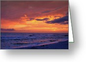 Panama City Beach Greeting Cards - After the Sunset Greeting Card by Sandy Keeton