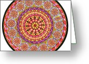 Mandalas Art Pastels Greeting Cards - Afterglow Greeting Card by Marcia Lupo