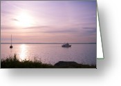 Boats Greeting Cards - Afternoon Ambiance Greeting Card by Idaho Scenic Images Linda Lantzy
