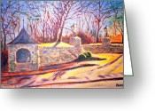 Clayton Painting Greeting Cards - Afternoon at Clayton road Greeting Card by Horacio Prada
