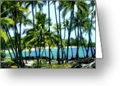 Islands Digital Art Greeting Cards - Afternoon at Kakaha Kai Greeting Card by Kurt Van Wagner
